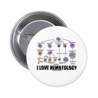I Liebe-Hämatologie (Blutzelle-Abstammung) Runder Button 5,1 Cm
