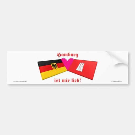 I Liebe-Hamburg ist-MIR lieb Autosticker