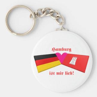 I Liebe-Hamburg ist-MIR lieb Standard Runder Schlüsselanhänger