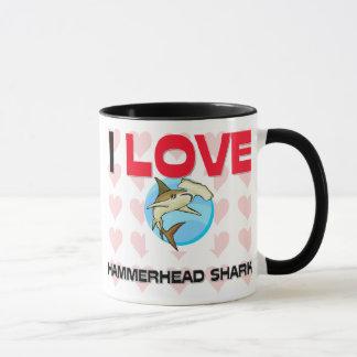 I Liebe-Hammerhai-Haifische Tasse