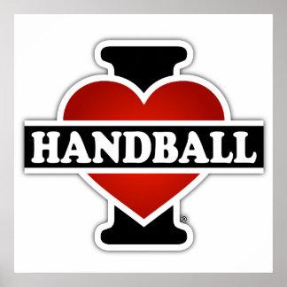 I Liebe-Handball Poster