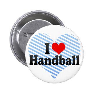 I Liebe-Handball Runder Button 5,1 Cm