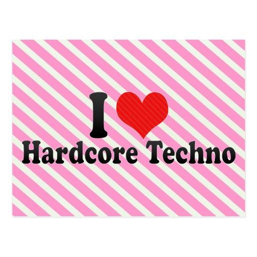 I Liebe-hardcore Techno Postkarte