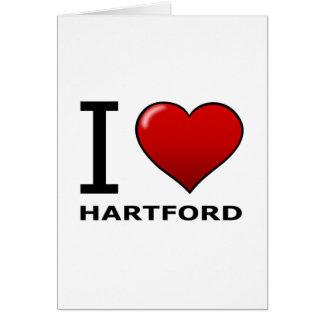I LIEBE HARTFORD, CT - CONNECTICUT KARTE
