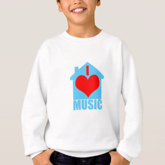 I Liebe-Haus-Musik - Herz-Haus Sweatshirt