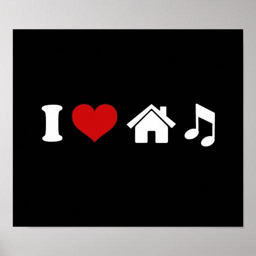 I Liebe-Haus-Musik Plakat