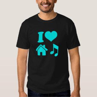 I Liebe-Haus-Musik-Shirt Hemden