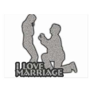 I Liebe-Heirat heiraten Sie mich? Postkarte