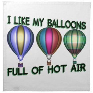 I Liebe-Heißluft-Ballone Serviette