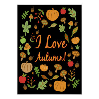 I Liebe-Herbst! Poster