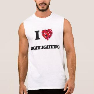 I Liebe-Hervorhebung Ärmelloses Shirt