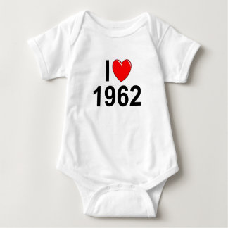 I Liebe (Herz) 1962 Baby Strampler