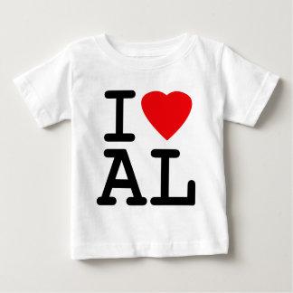 I Liebe-Herz Alabama Baby T-shirt