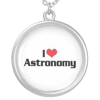 I Liebe-Herz-Astronomie - Stern-Beobachter Versilberte Kette