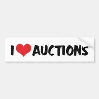 I Liebe-Herz-Auktionen Autoaufkleber