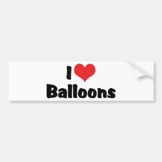 I Liebe-Herz-Ballone Autoaufkleber