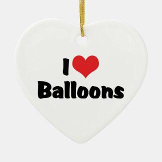 I Liebe-Herz-Ballone Keramik Ornament