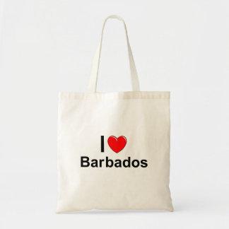 I Liebe-Herz Barbados Tragetasche