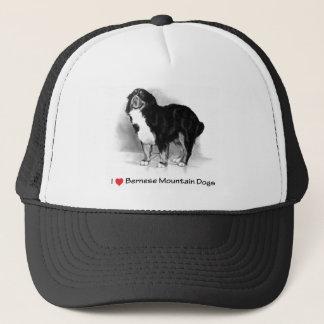 I Liebe (Herz) Bernese Gebirgshunde Truckerkappe