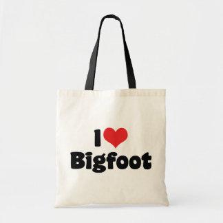 I Liebe-Herz-Bigfoot Sasquatch Yeti Tragetasche