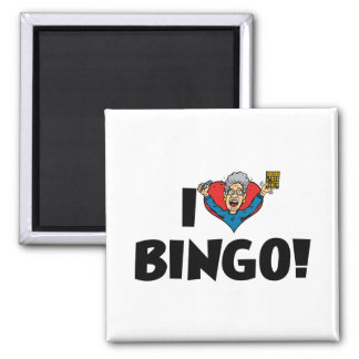I Liebe-Herz-Bingo! - Bingo-Liebhaber Quadratischer Magnet