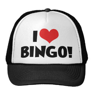 I Liebe-Herz-Bingo! - Bingo-Liebhaber Retromütze