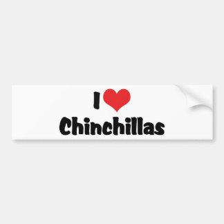 I Liebe-Herz-Chinchillas Autoaufkleber