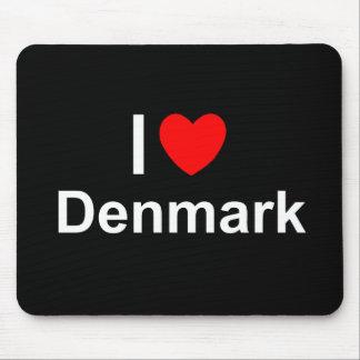 I Liebe-Herz Dänemark Mauspads