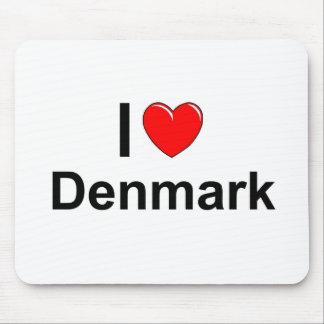 I Liebe-Herz Dänemark Mousepads