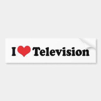 I Liebe-Herz-Fernsehen - Fernsehliebhaber Autoaufkleber