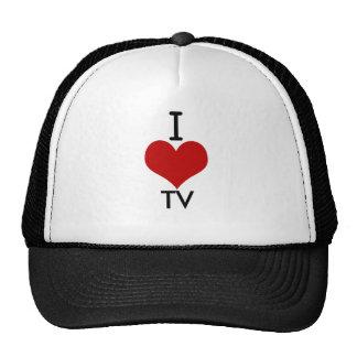 I Liebe (Herz) Fernsehen Truckerkappe