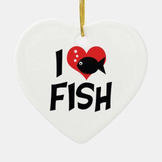 I Liebe-Herz-Fische - Aquarium-Liebhaber Keramik Ornament