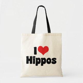 I Liebe-Herz-Flusspferde - Hippopotamus-Liebhaber Tragetasche