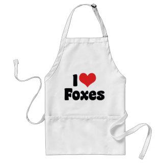 I Liebe-Herz-Füchse - Fox-Liebhaber Schürze