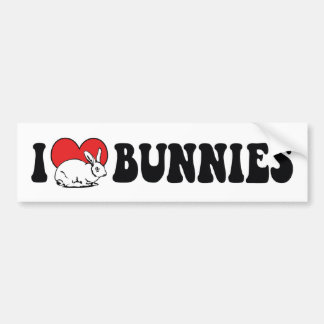 I Liebe-Herz-Häschen-Kaninchen Autoaufkleber