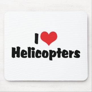 I Liebe-Herz-Hubschrauber Mousepads