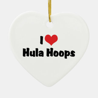 I Liebe-Herz Hula Bänder - Fünfzigerjahre Hula Keramik Ornament