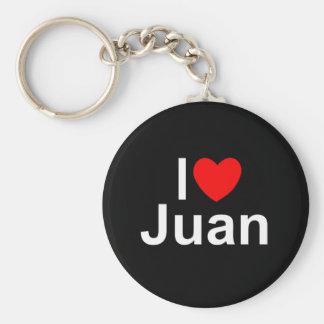 I Liebe (Herz) Juan Standard Runder Schlüsselanhänger
