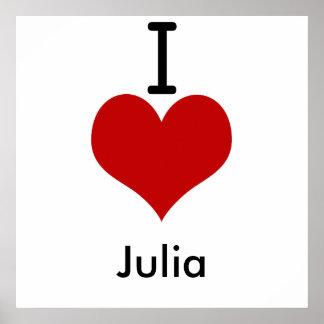 I Liebe (Herz) Julia Poster