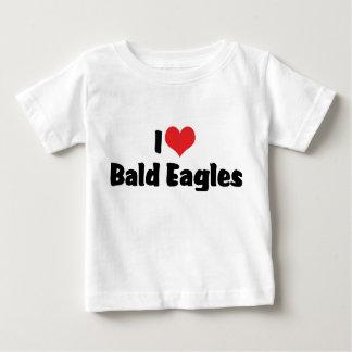 I Liebe-Herz kahler Eagles Baby T-shirt