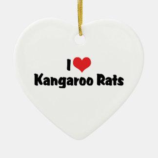 I Liebe-Herz-Känguru-Ratten Keramik Ornament