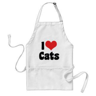 I Liebe-Herz-Katzen - Katzen-Liebhaber Schürze