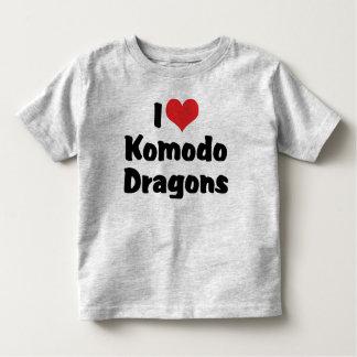 I Liebe-Herz Komodo Drachen Kleinkind T-shirt
