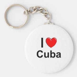 I Liebe-Herz Kuba Schlüsselanhänger