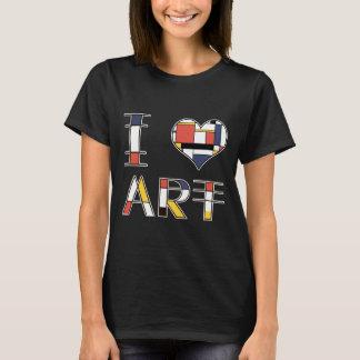 I Liebe - Herz - Kunst elegante neoplasticism Art T-Shirt