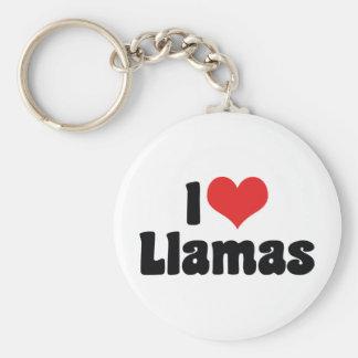 I Liebe-Herz-Lamas Schlüsselanhänger