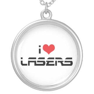 I Liebe-Herz-Laser - Wissenschafts-u. Versilberte Kette