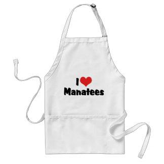 I Liebe-Herz-Manatis Schürze