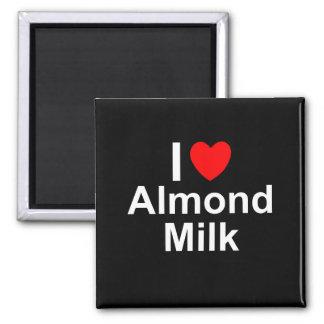 I Liebe-Herz-Mandel-Milch Quadratischer Magnet