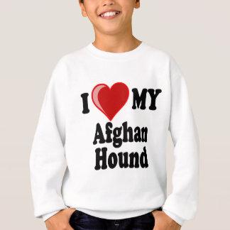 I Liebe (Herz) mein Afghanen-Hund Sweatshirt